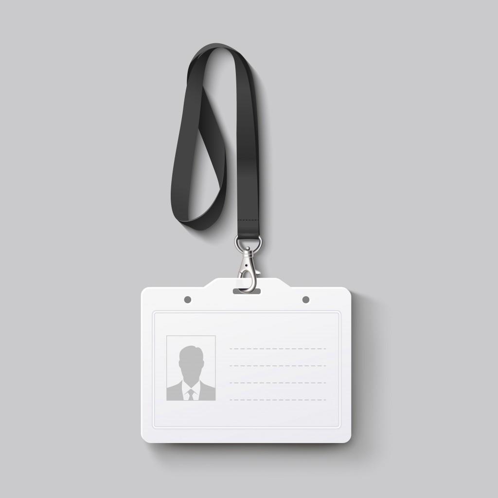 id badge with lanyard