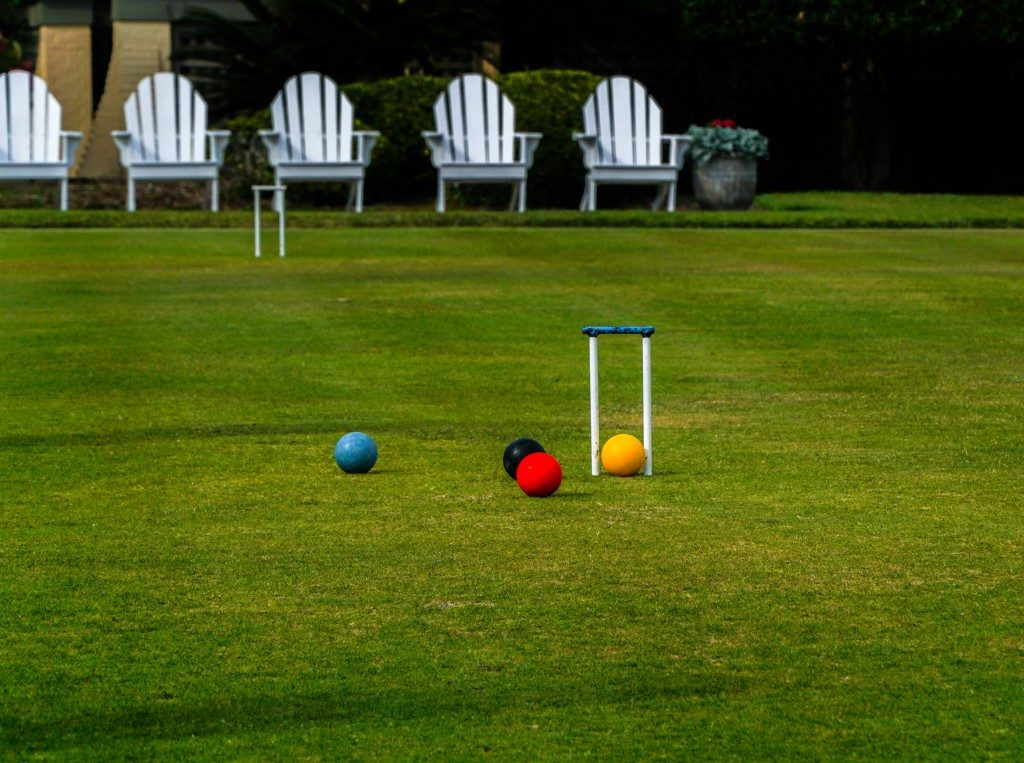 Outdoor games, like Croquet
