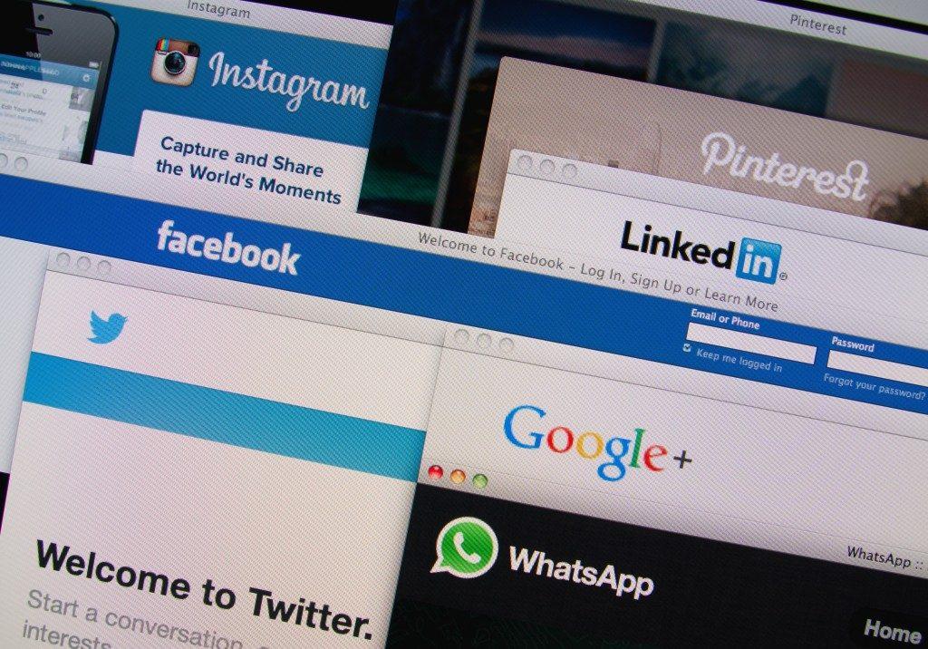 different social media websites