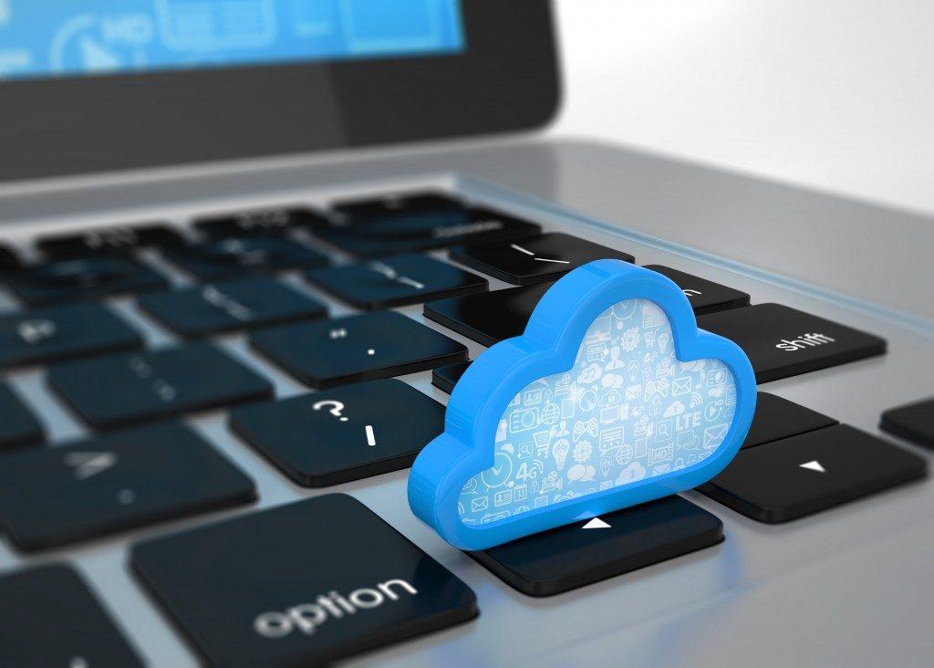 cloud software program concept