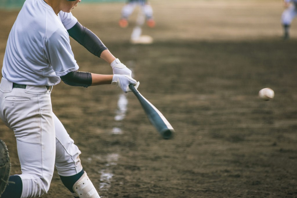 Baseball player in the field