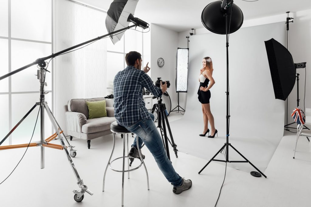 woman at a photoshoot