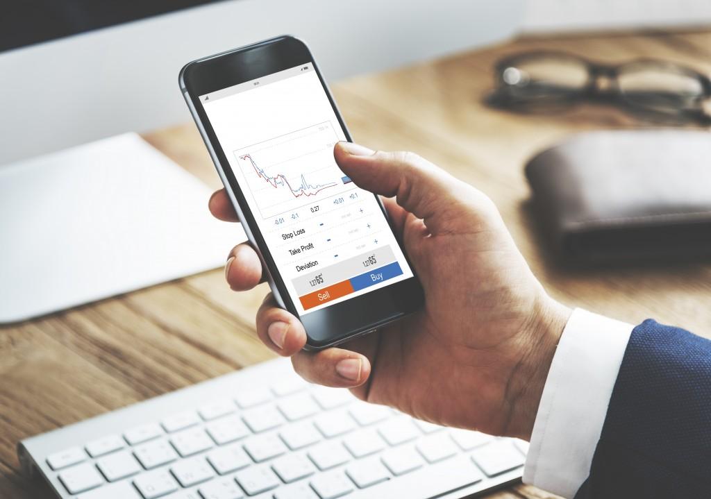 using phone to check stocks