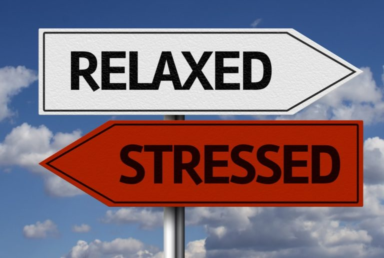 stressed and relaxed signs